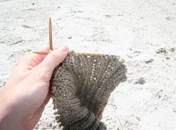 Knit on beach