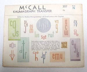Monogram envelope