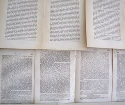 Pages on wall