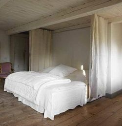 Curtained-bed