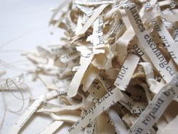 Shredded words
