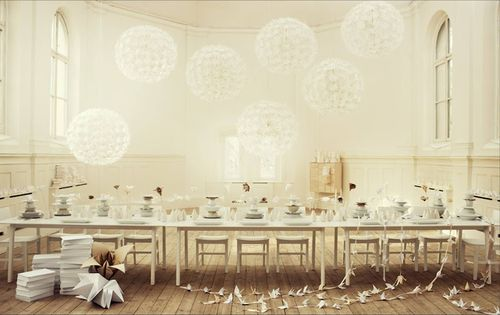 Lo-bjurulf-ikea-ps-maskros-light-fixture-pendant-ceiling-lamp-white-dining-scene-party-event
